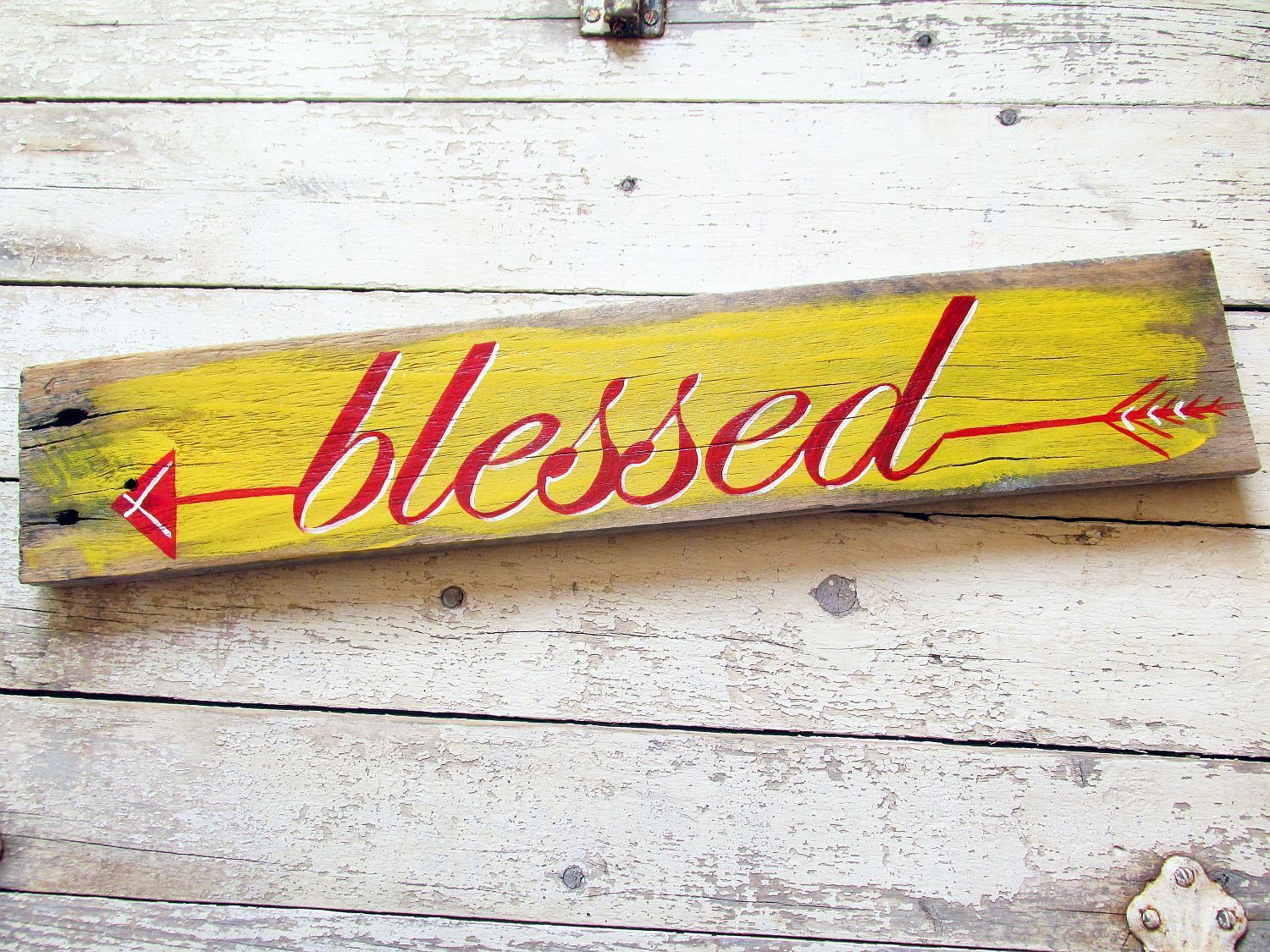 Arrow Decor, Rustic Signs, Pallet Wood Sign, Home Decor, Blessed ...