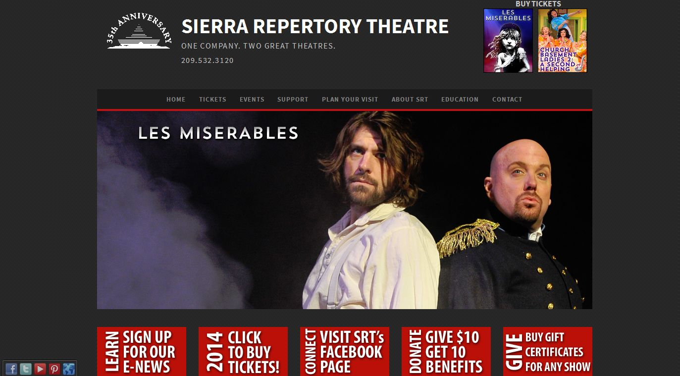Sierra Repertory Theatre Les miserables, Theatre, Buying