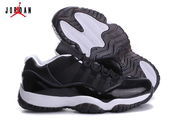 1f8a0b09fb6b7f Men s Air Jordan 11 Low Basketball Shoes Black White 528895-031 ...
