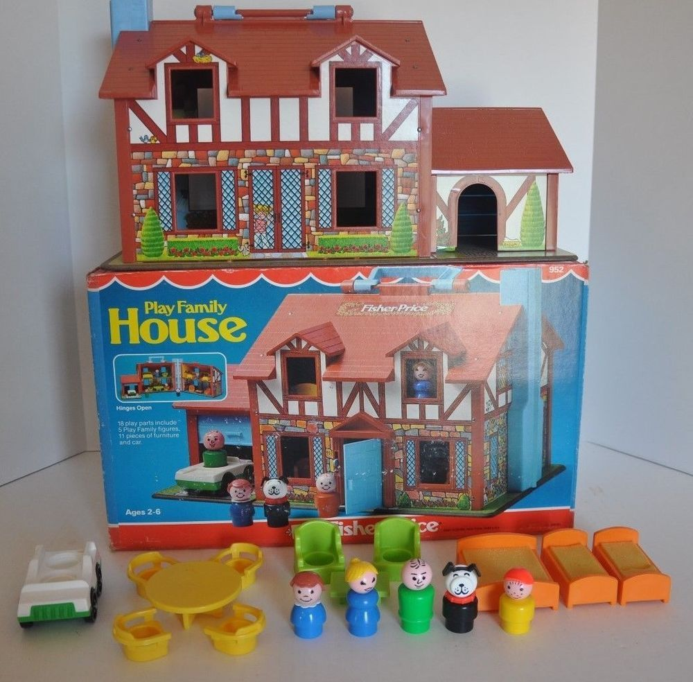 Details About Vintage Fisher Price Little People Tudor House