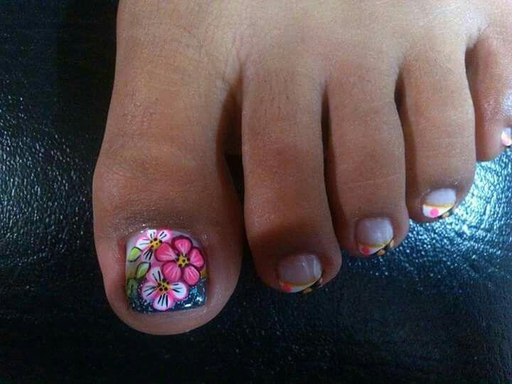Viviana | Uñas de pies sencillas, Diseños de uñas pies ...