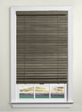 Levolor Wood Blinds Dark Grey Chalk Wood Blinds Cordless