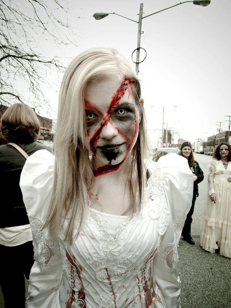 maquillage zombie bride