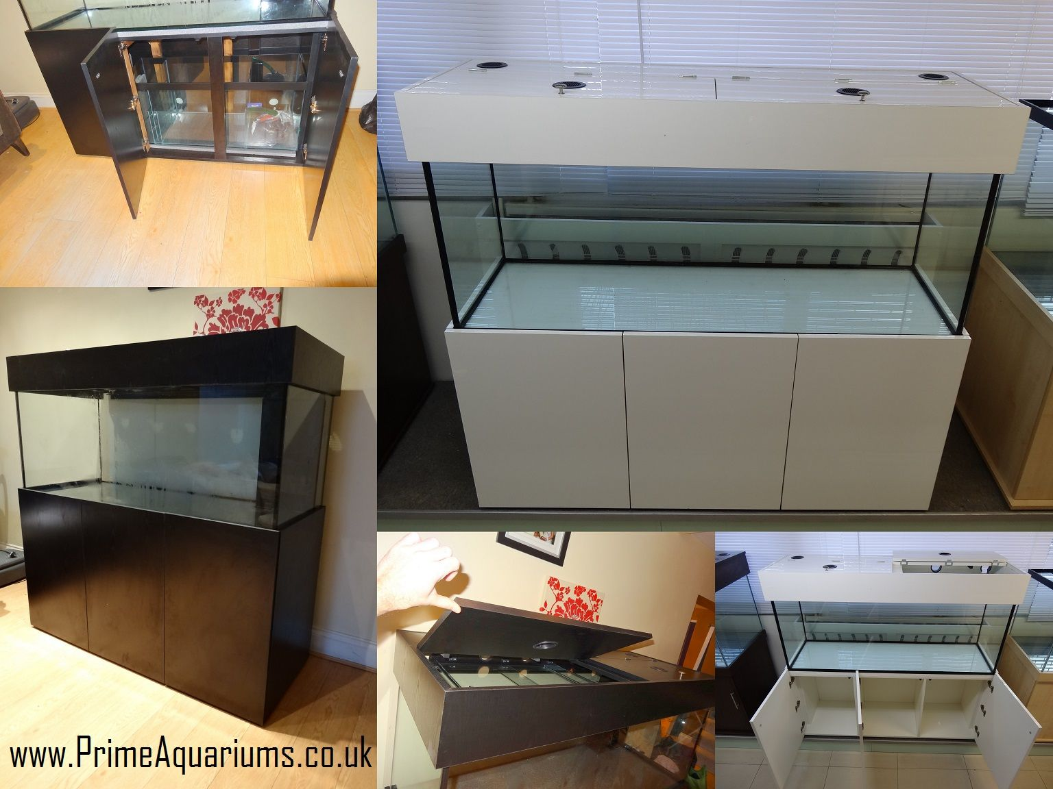 Modern Design Fish Tank Cabinets Manufactured In Matte