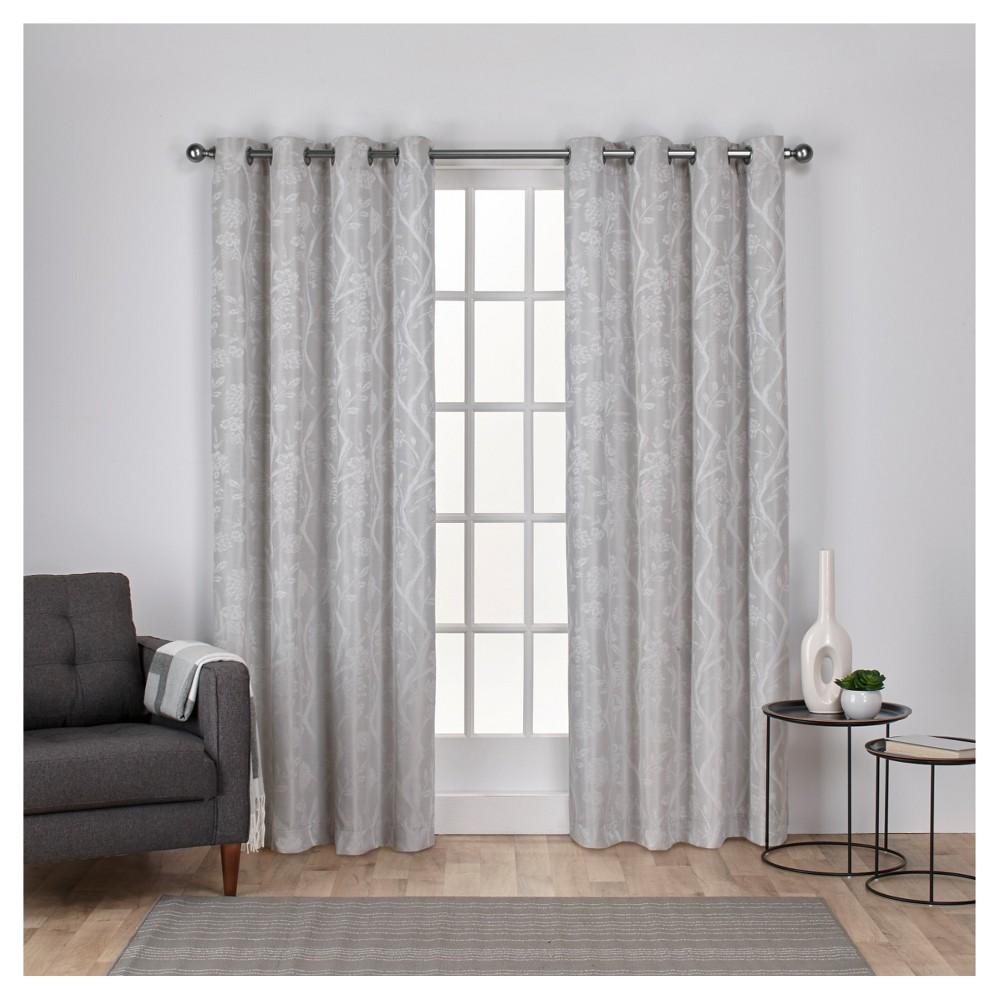Lamont Branch And Vine Textured Linen Jacquard Grommet Top Window