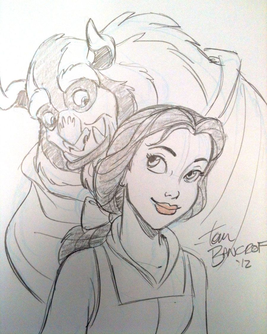 Beauty And The Beast Sketch By Tombancroft Deviantart Com On