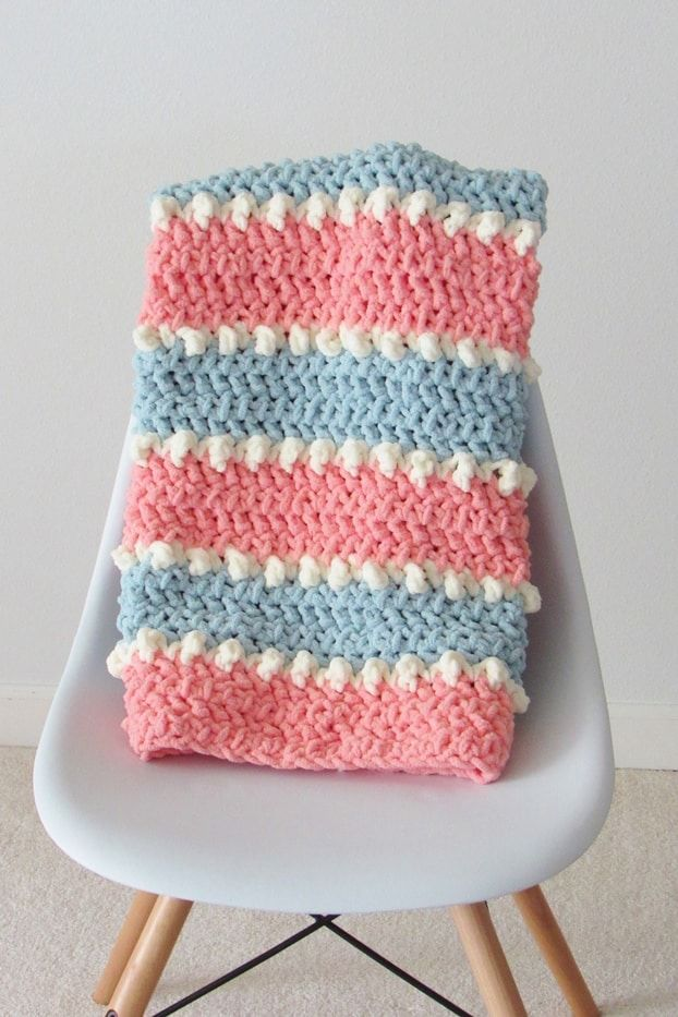 Easy Crochet Baby Blanket, 6 Hour Blanket - Crochet Dreamz