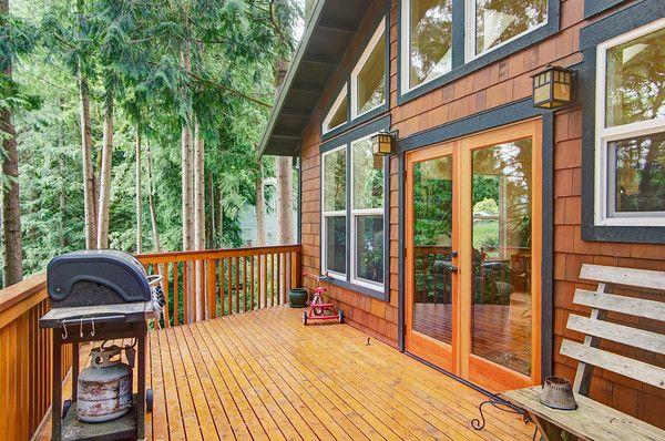Cedar Shake Siding With Black Trim Lake House