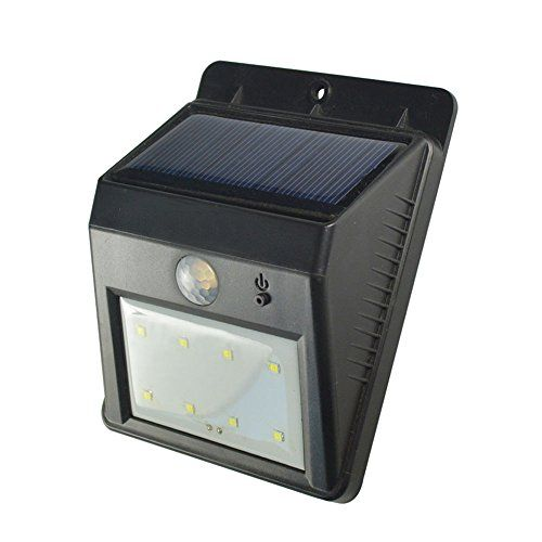 Wowtou Solar Wall Light Weatherproof Outdoor 8 Leds Motion Senser Lighting You Can Get Additional Det Solar Wall Lights Wall Lights Weatherproofing