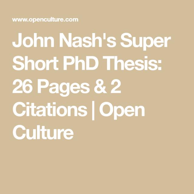 Pin On Inspiration John Nash Dissertation Phd Thesi Pdf Length