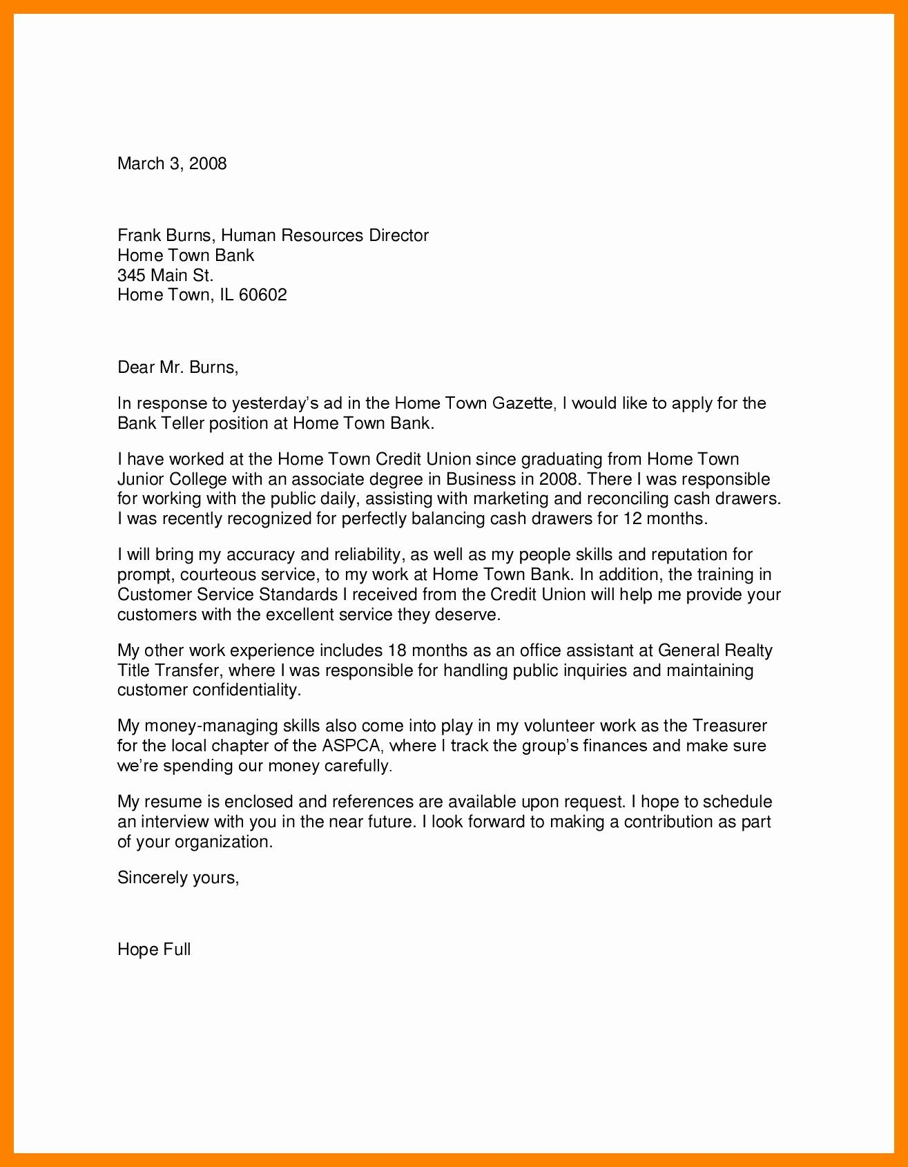 Track Worker Cover Letter 27 Cover Letter For Bank Teller Cover Letter For Bank Teller