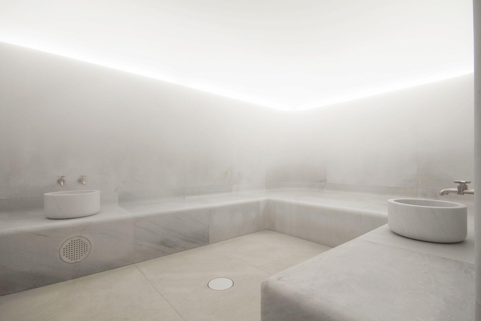 Carrara marble bathroom image the cafe royal hotel regent street - Custom Made Sauna For Caf Royal London Designed By David Chipperfield Architects Realized By 4seasonsspa Www 4seasonsspa Pro Com Pinterest