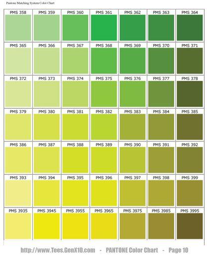 Sage Green Color Chart | pantone color chart pms ink color ...