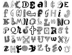 Cute Ways to Draw Letters | Cute Ways to Write Letters