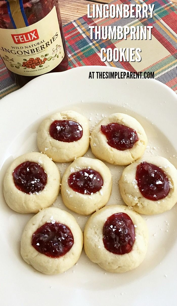 Make Lingonberry Thumbprint Cookies With Jam For Your Next Get