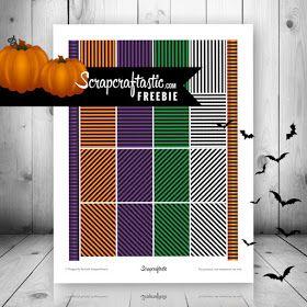 Halloween Stripes Free Planner Printable