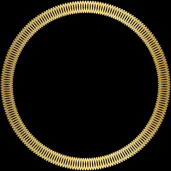 Gold Round Deco Border Transparent Clip Art Image Clip Art Art Images Free Clip Art