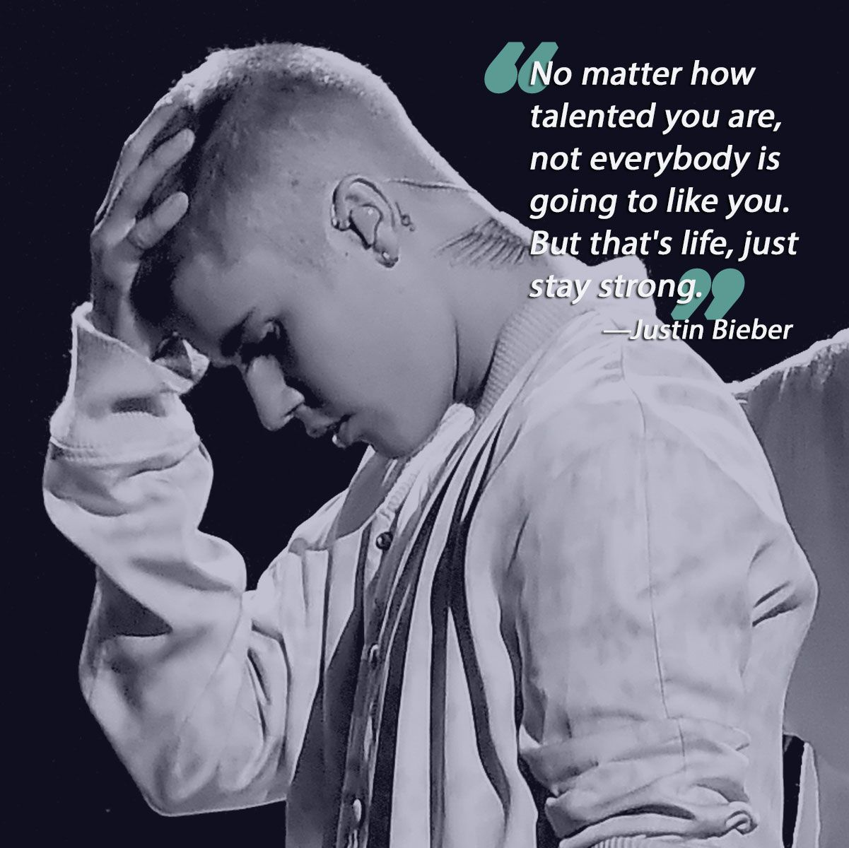 28 Of The Most Inspirational Quotes From Our Favorite Celebrities More Celebration Quotes Justin Bieber Quotes Quotes By Famous People