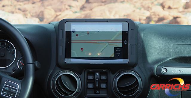 Carrichs Tdk617 Ipad Mini 4 Dash Kit For Jeep Wrangler Jk 2011