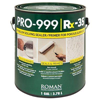 Roman 016901 Pro 999 Rx 35 Drywall Repair And Sealer Primer 1 Gal Drywall Repair Drywall Repair