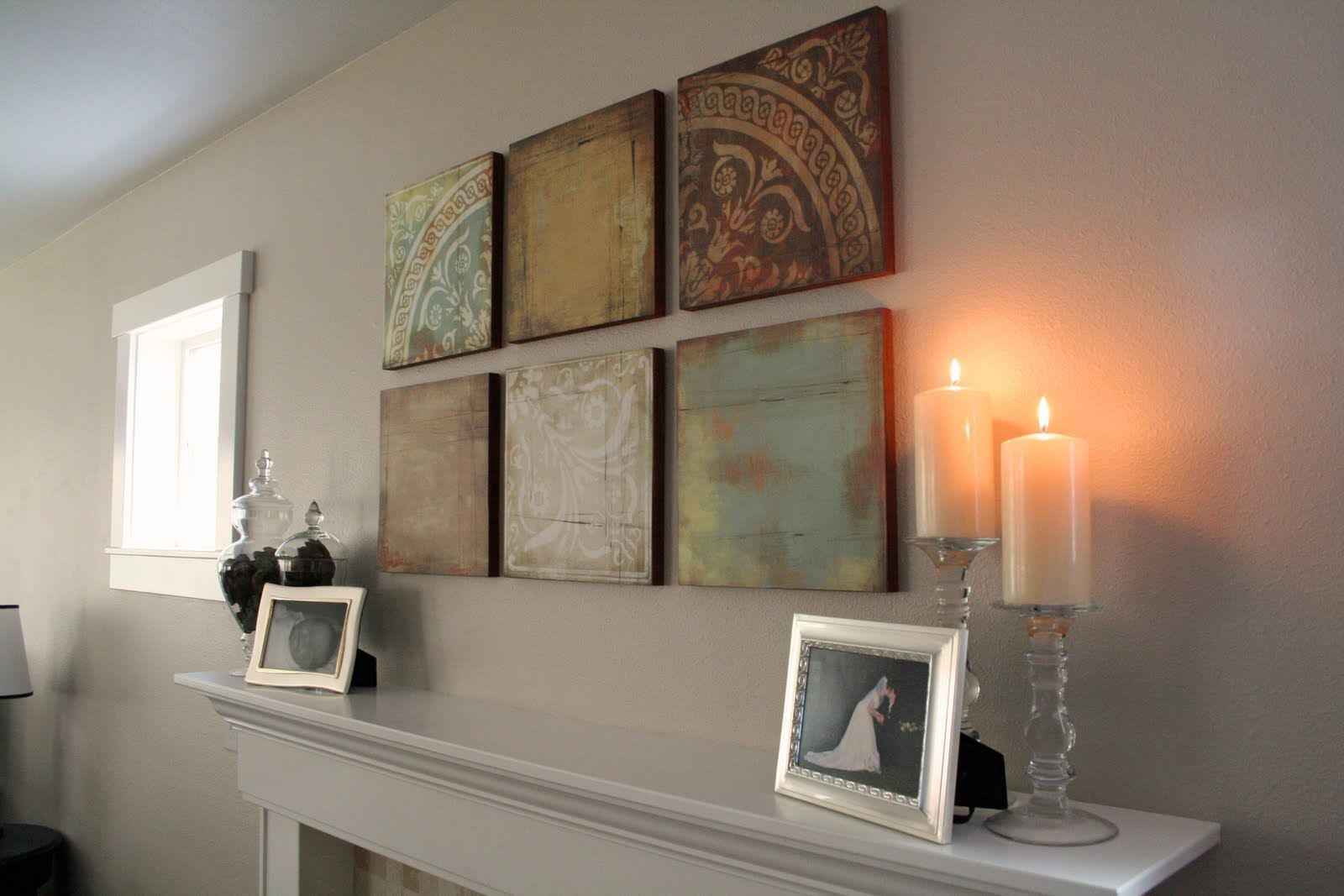 How to make scrapbook creative - This Is So Creative She Used Mdf And Scrapbook Paper To Make Beautiful Wall Art