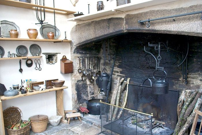 Phenomenal A Brief History Of The Kitchen Open Fireplace 16Th Century And Largest Home Design Picture Inspirations Pitcheantrous