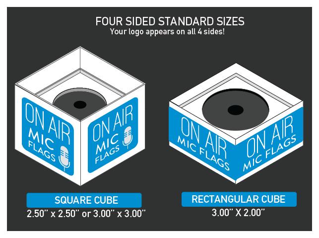 Custom Mic Flag Template for Four Sided Logo | Podcasting