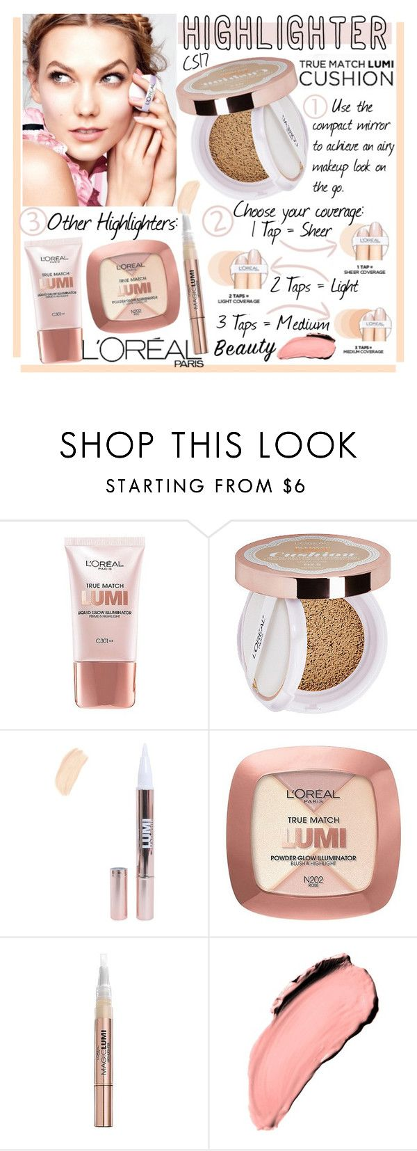 """Spring Beauty: Highlighter."" by shiningstars17 ❤ liked on Polyvore featuring beauty, L'Oréal Paris and highlighter"