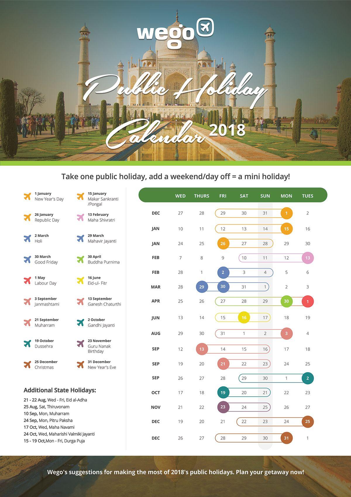 2018 calendar of india calendar india