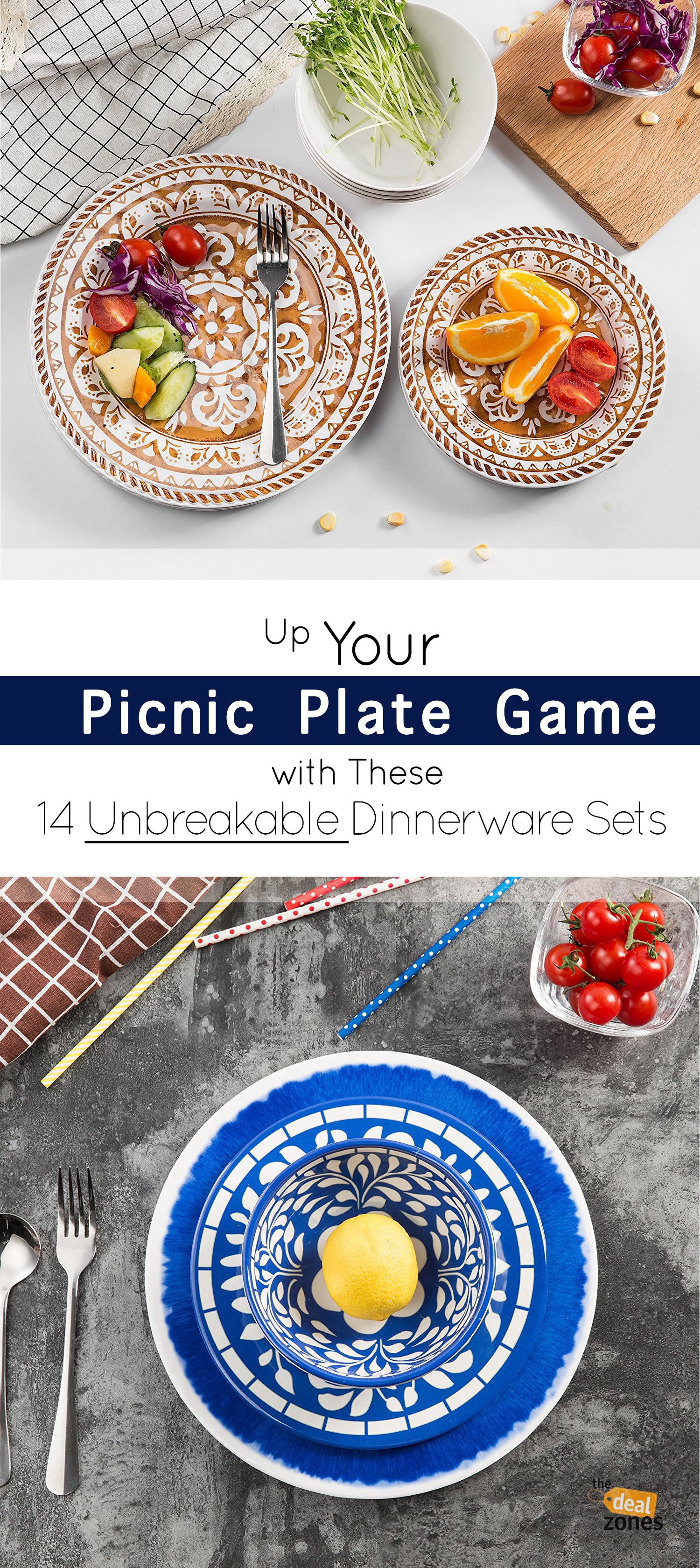 Up Your Picnic Plate Game with These 14 Unbreakable Dinnerware Sets On Amazon  sc 1 st  Pinterest & Up Your Picnic Plate Game with These 14 Unbreakable Dinnerware Sets ...