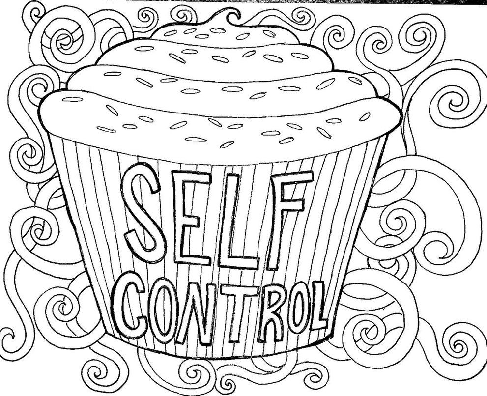 Self Control Color Page By Ashtreefae Childrens Church Crafts