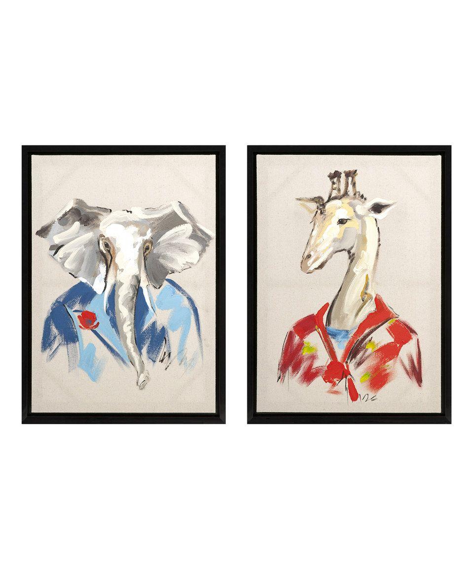 Love this George & Charles Canvas Set by IMAX on #zulily! #zulilyfinds