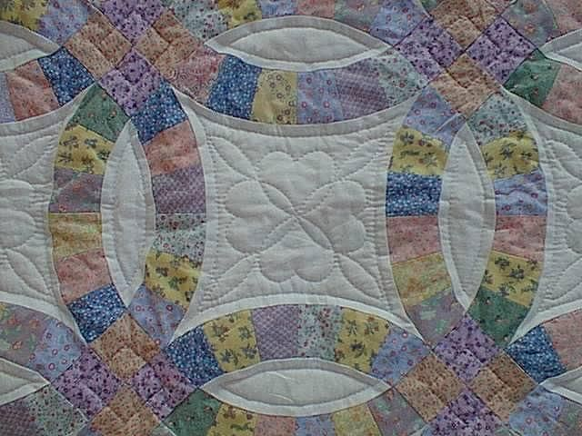 Wedding Ring Quilt Pattern Double Wedding Ring Dimensions Baby Quilt This Quilt Was Double Wedding Ring Quilt Wedding Ring Quilt Double Wedding Rings