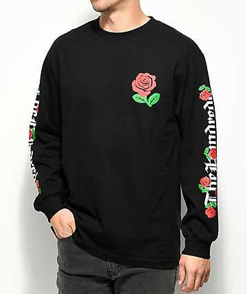 602c2e0b2 The Hundreds Big Rose Fill Black Long Sleeve T-Shirt | No Shirts No ...