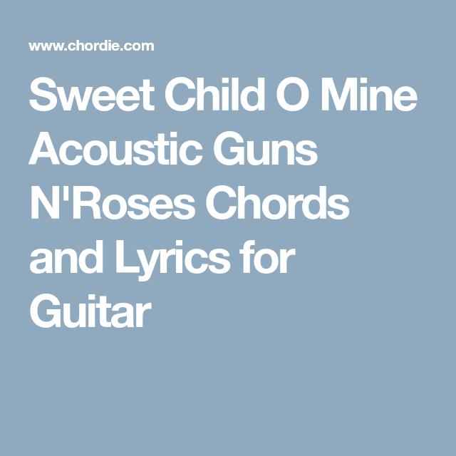 Luxury Guitar Chords Of Sweet Child O Mine Photos - Basic Guitar ...