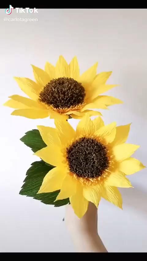 DIY Paper Sun Flower