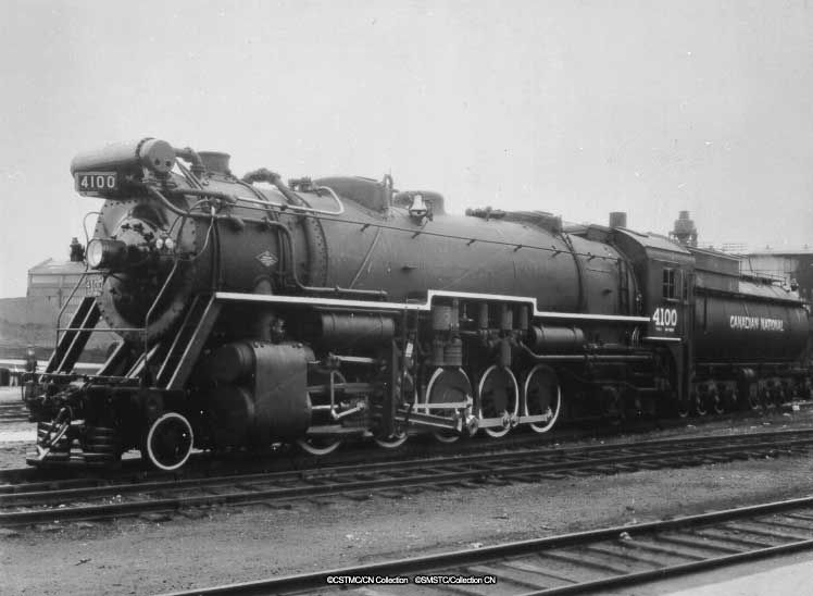 CNR 4100 - 2-10-2 built ca1924 | Canadian national railway ...