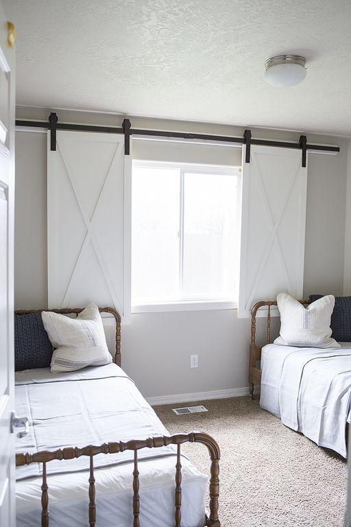 20 Gorgeous Diy Window Decoration Ideas You Can Try Window Treatments Bedroom Barn Door Window Diy Barn Door