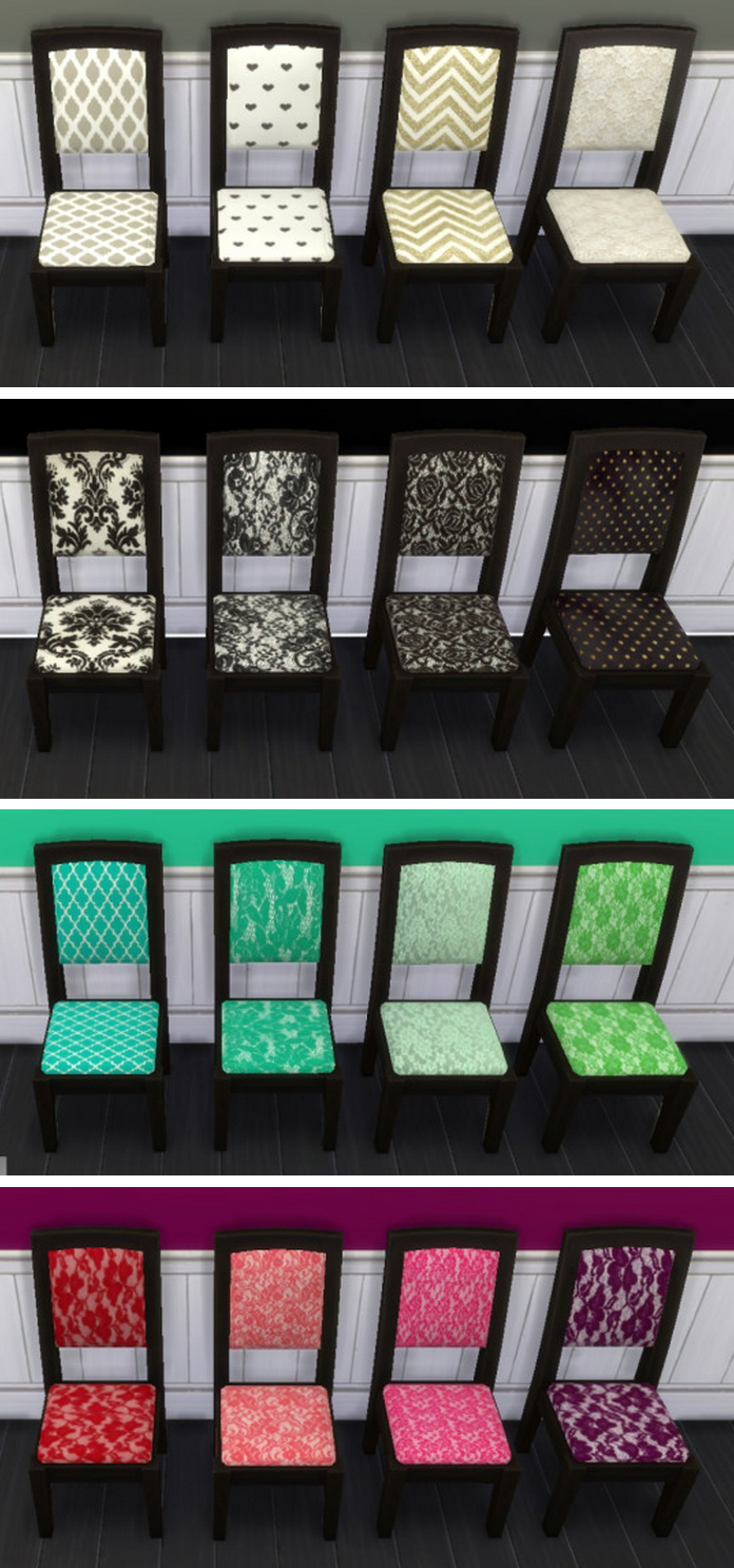 My Sims 4 Blog: Dining Chair Recolors by Sunshineandrosescc