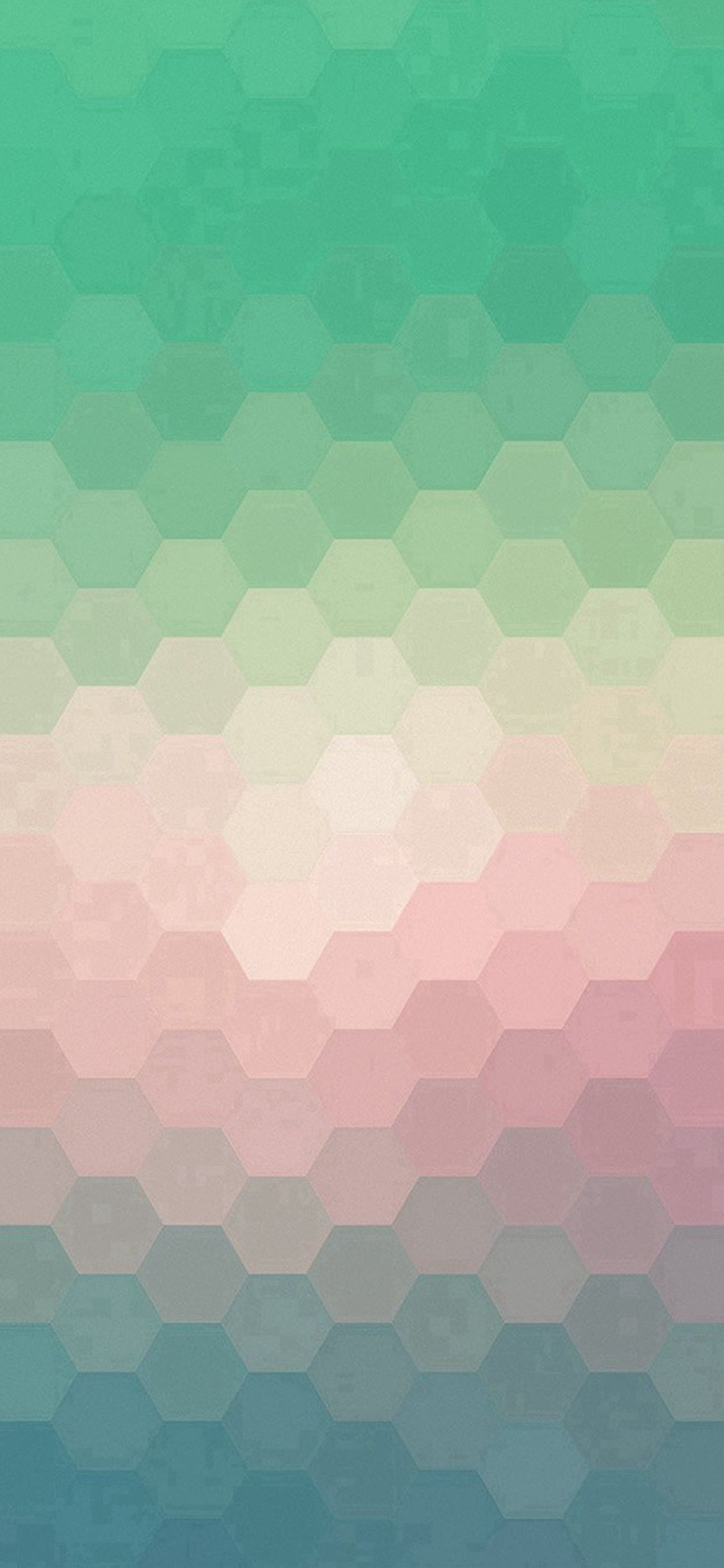 Hexagon Green Red Pattern Background IPhone X Wallpaper