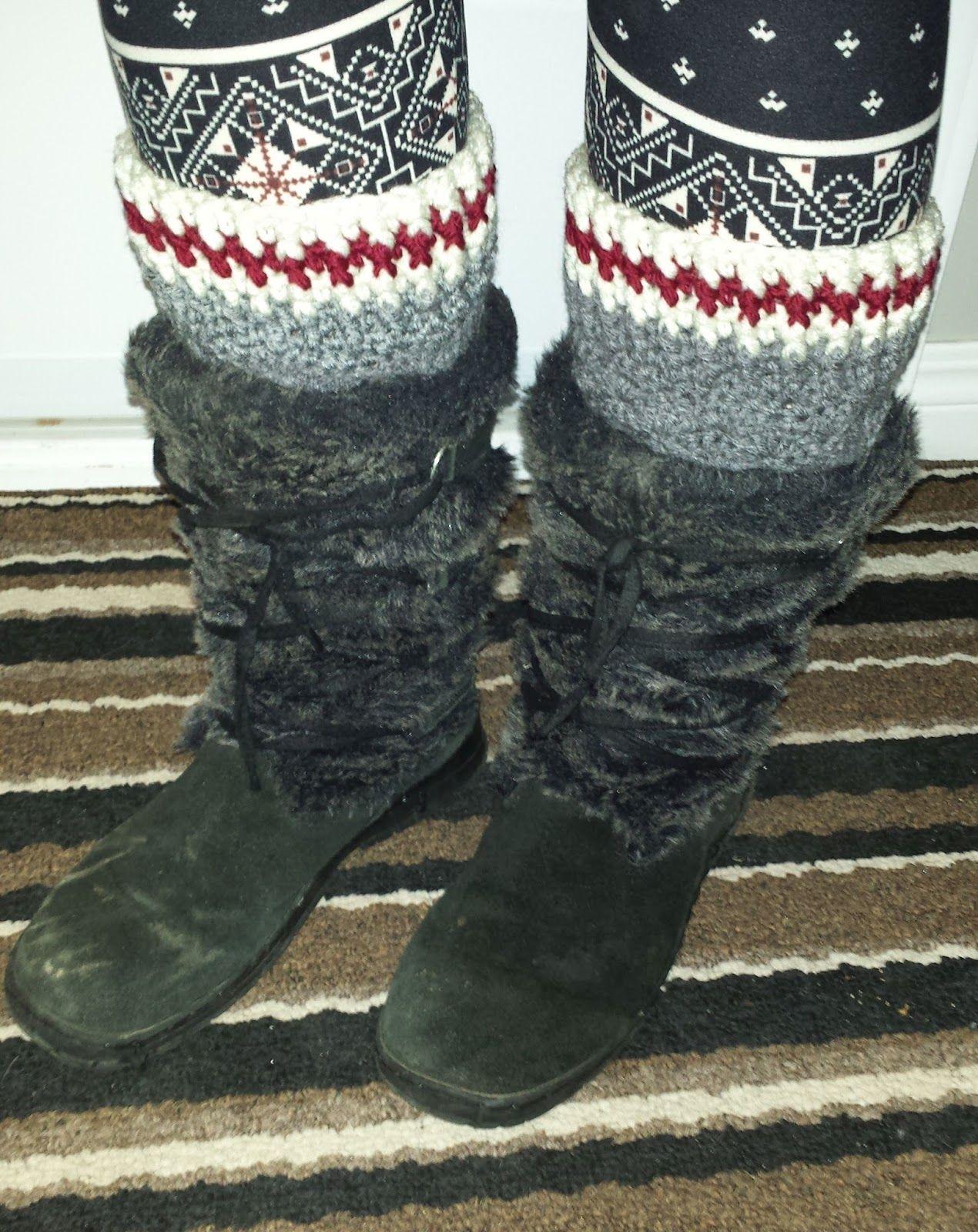 My Grey Sock Boot Cuffs -free crochet pattern- | Boot ...