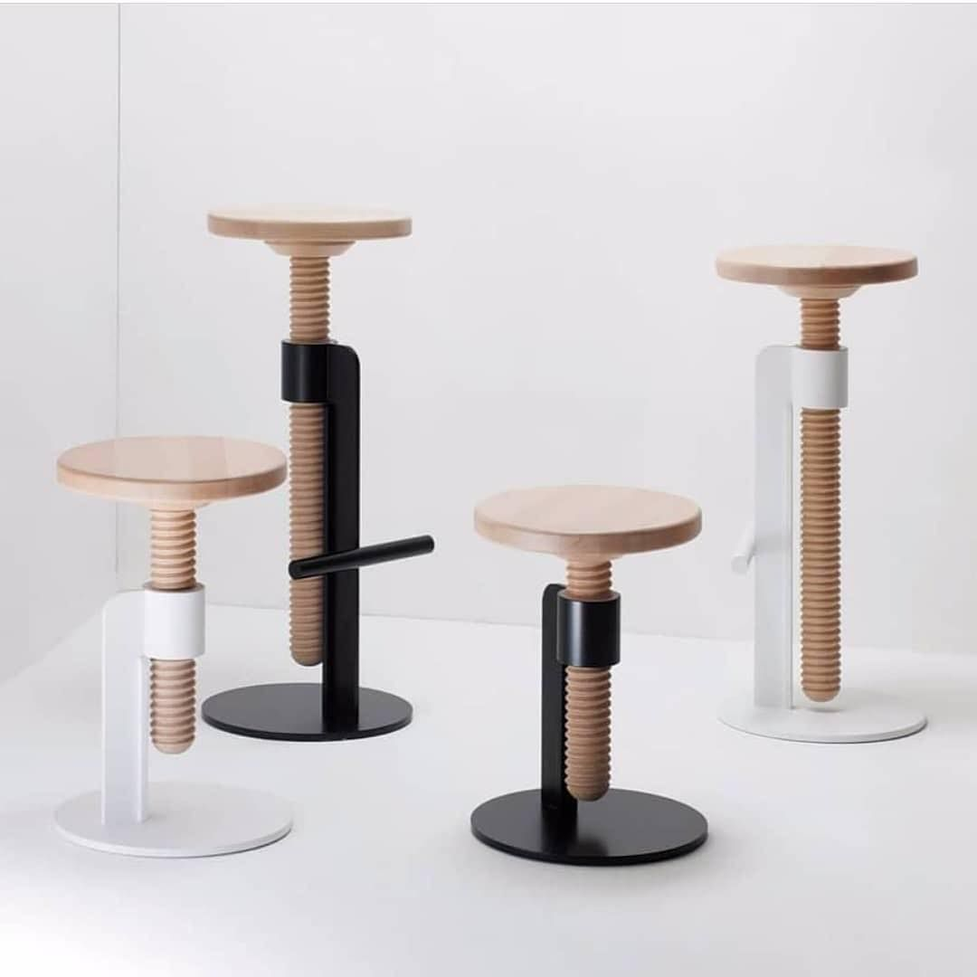 Brilliant Minimalgoods On Instagram Adjustable Screw Stools Designed Caraccident5 Cool Chair Designs And Ideas Caraccident5Info