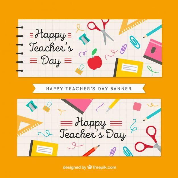 Descarga Gratis Bonitos Banners De Feliz Dia Del Profesor Con