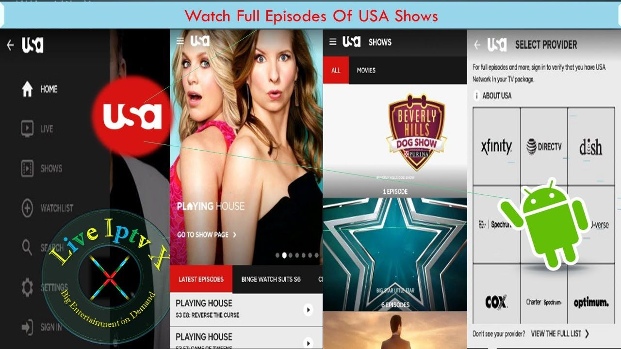 USA Network APK For Watch full Episodes Of Your Favorite
