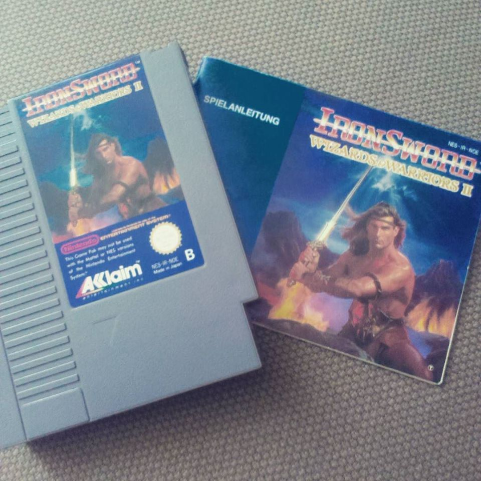 Neu in infinitys PAL-B-Sammlung: Wizards & Warriors 2: Iron Sword. Danke Björn! #nescommando