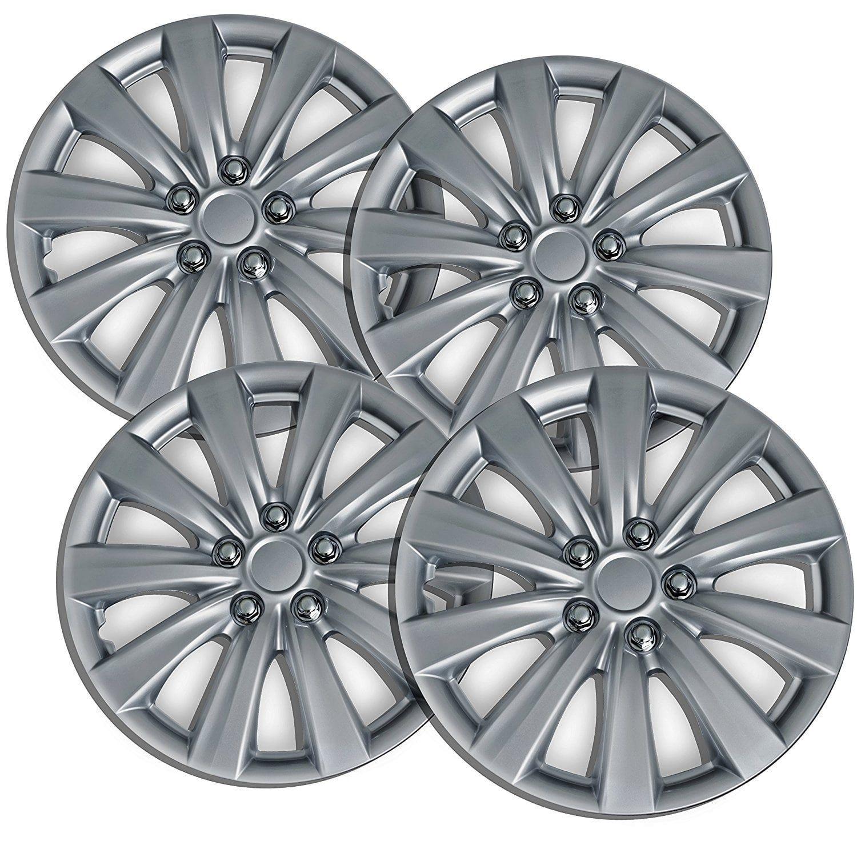 OxGord Silver 16 Wheel Cover Hub Cap for Select Toyota Corolla
