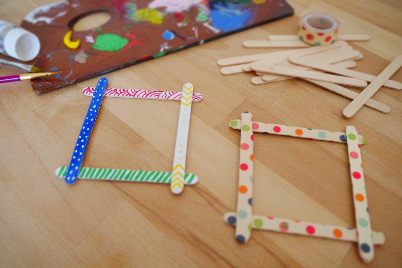 Bunte Bilderrahmen aus Eisstielen | Für jede Nanny : 365 bunte Ideen ...