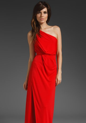 1fcd3f059579f BCBG One shoulder high slit maxi dress - I don't normally like maxi dresses,  but I'm loving this one!