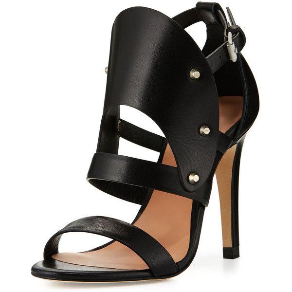 c1803e57a55 L.A.M.B. Gareth Cutout Studded Leather Sandal ( 125) ❤ liked on ...