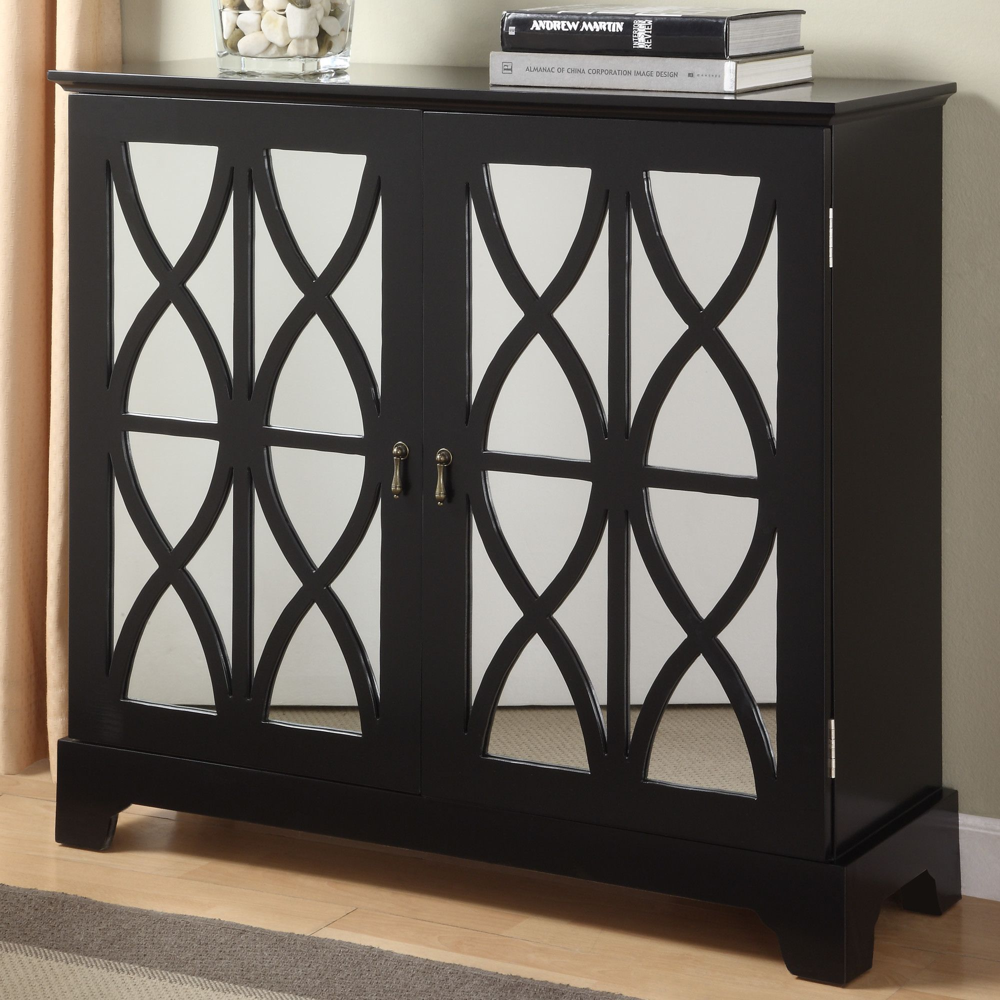 Attrayant Powell Console Cabinet With Mirrored Glass Door U0026 Reviews   Wayfair